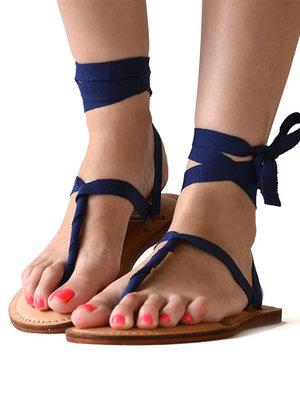 Sandals Dark blue
