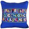 Mayan Cushion Cover Blue - Fairtrade