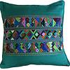 Mayan Cushion Cover Green - Fairtrade