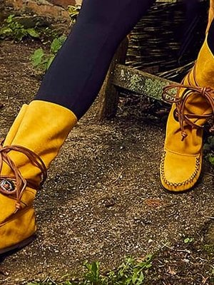 Boots Yellow Brown