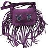 Shoulder Bag Purple - Suede