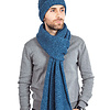 Scarf and Hat Blue Ocean