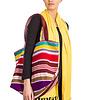 Katoen Shopper Orange - Kleurrijk &  Fairtrade