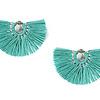 Fan Tassel Earrings Turquoise - Fairtrade