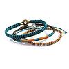 Men Bracelet Brown Turquoise - Fairtrade
