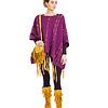 Wool Poncho Plum Purple - Fashionable & Warm
