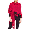 Wool Poncho Red -  Beautiful & Warm