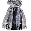 Sjaal Zwart Grijs - Bamboe