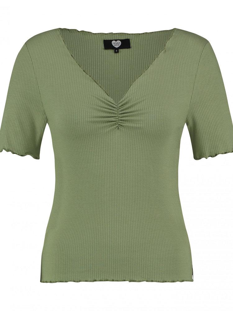 CATWALK JUNKIE CATWALK JUNKIE - T-shirt bella groen