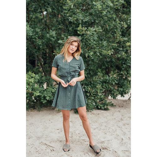 THINGS I LIKE THINGS I LOVE THINGS I LIKE THINGS I LOVE - Dora dotted jurk groen