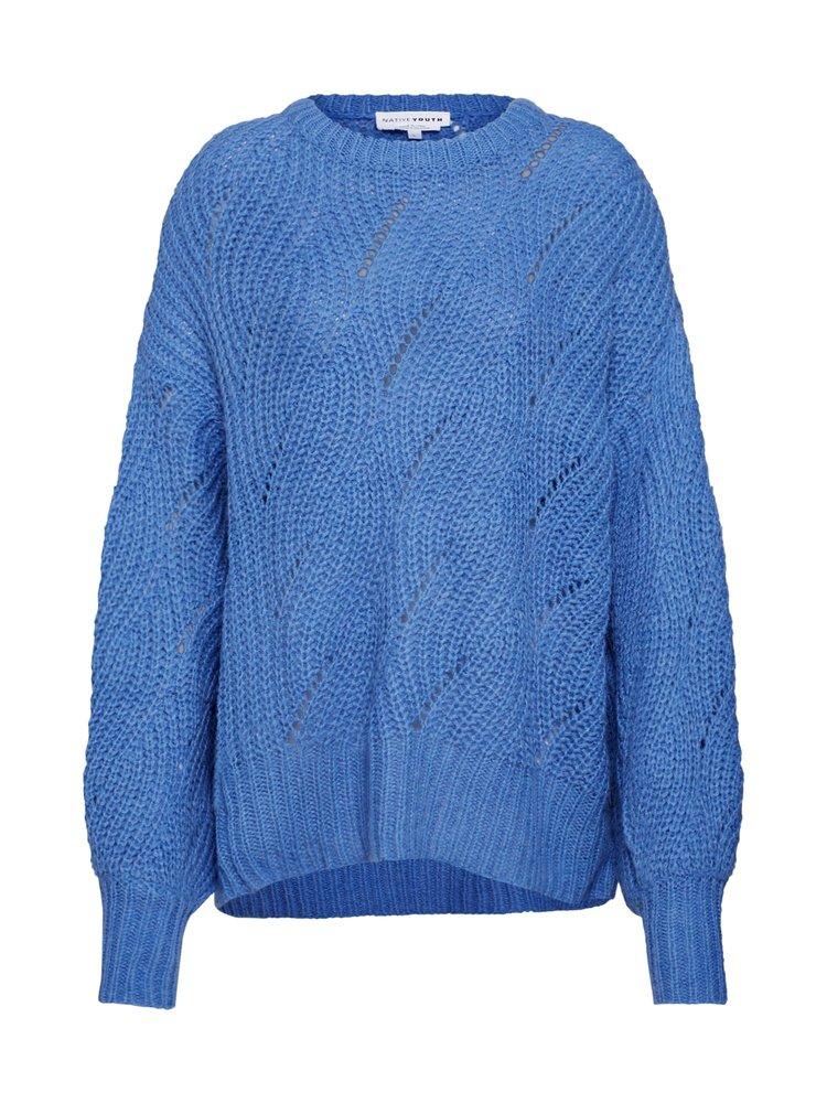 NATIVE YOUTH NATIVE YOUTH - The adele wool trui blauw