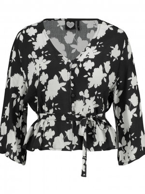 CATWALK JUNKIE CATWALK JUNKIE - Abstract blouse zwart