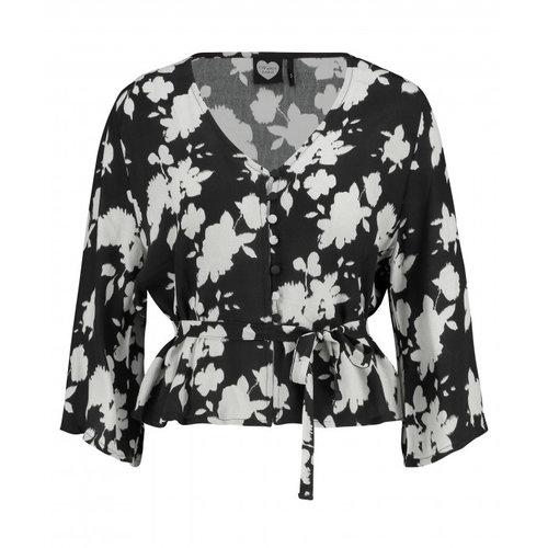 CATWALK JUNKIE CATWALK JUNKIE - Abstract blouse zwart
