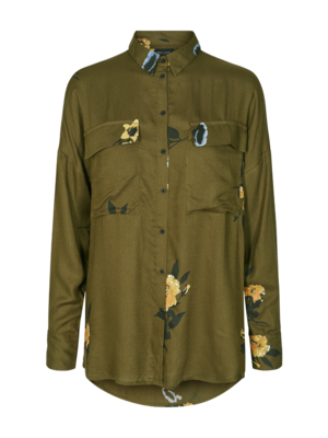 FREEQUENT FREEQUENT - Hoxi blouse olive night