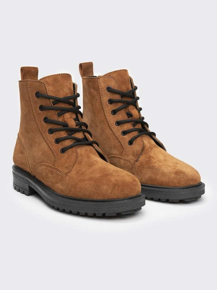 TD LEATHERBOOTS - Guzo tan suede