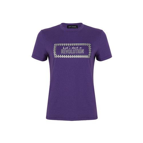 LOFTY MANNER LOFTY MANNER - Norah t-shirt paars