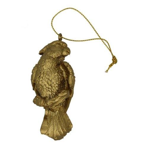 HOUSEVITAMIN - Xmas hanger parrot gold