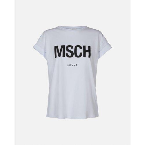 Moss Copenhagen MSCH - Alva MSCH STD shirt wit/zwart