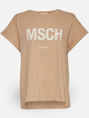 Moss Copenhagen MSCH - Alva MSCH STD shirt zand/wit