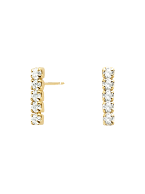 PDPAOLA PDPAOLA - Kira gold earrings