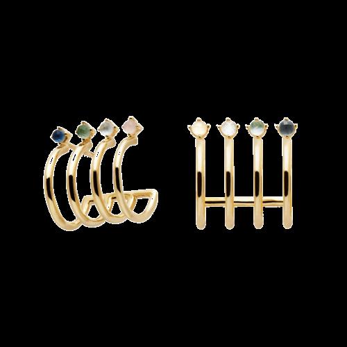 PDPAOLA PDPAOLA - Aqua gold earrings