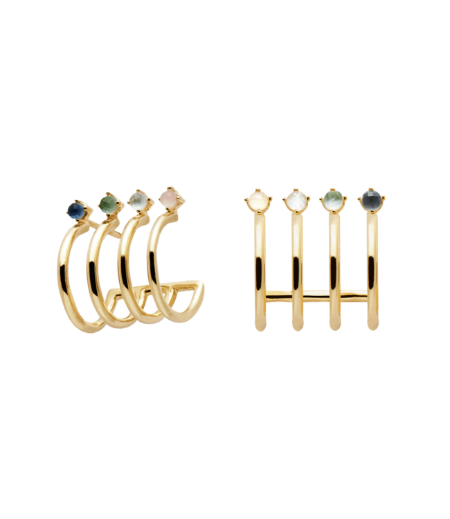 PDPAOLA - Aqua gold earrings