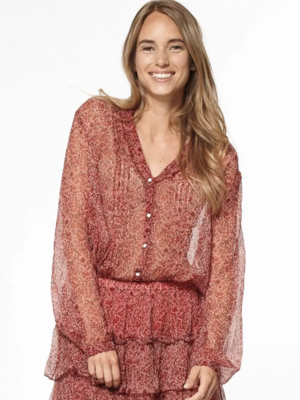 CIRCLE OF TRUST CIRCLE OF TRUST - Isabelle blouse red