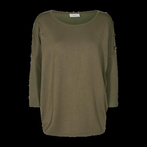 FREEQUENT FREEQUENT - Jone trui knoop groen