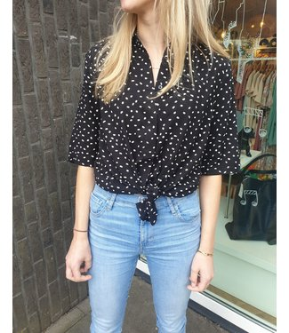 FREEQUENT FREEQUENT - Adney blouse dots zwart/ wit