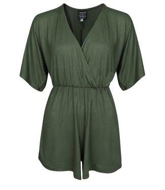 THINGS I LIKE THINGS I LOVE THINGS I LIKE THINGS I LOVE - Soft kimono playsuit groen