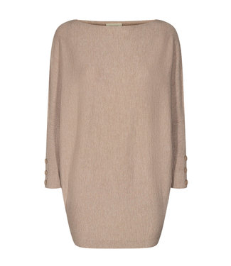 FREEQUENT FREEQUENT - Sally trui button oxford tan melange