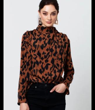 RUT & CIRCLE Inez blouse rusty brown