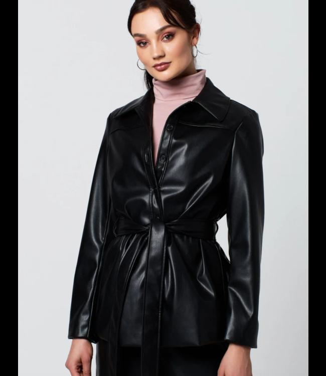 Petra pu jacket zwart