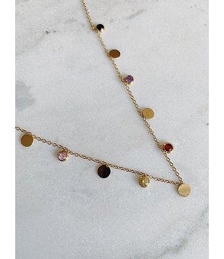Rocky Rosa ROCKY ROSA - Coin & Sparkle necklace