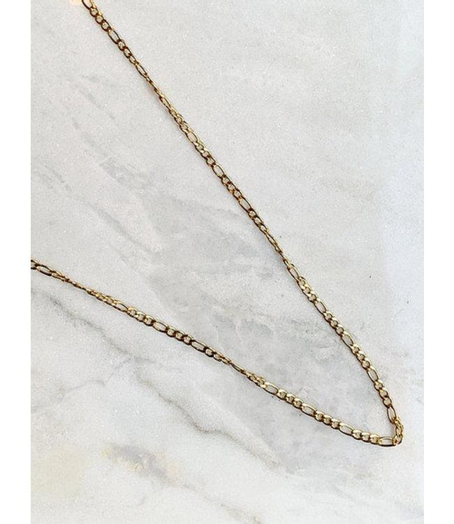 ROCKY ROSA - Long Vintage necklace goud