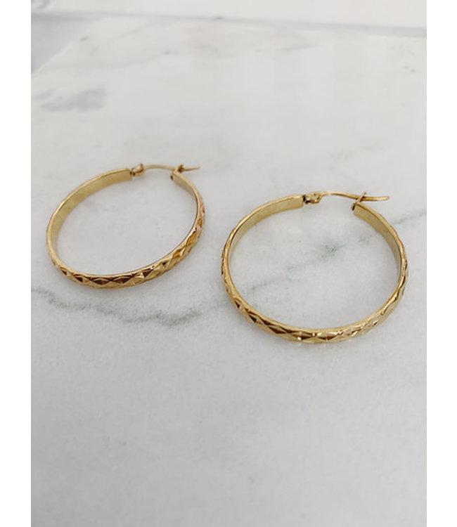 ROCKY ROSA - Diamond cut hoops