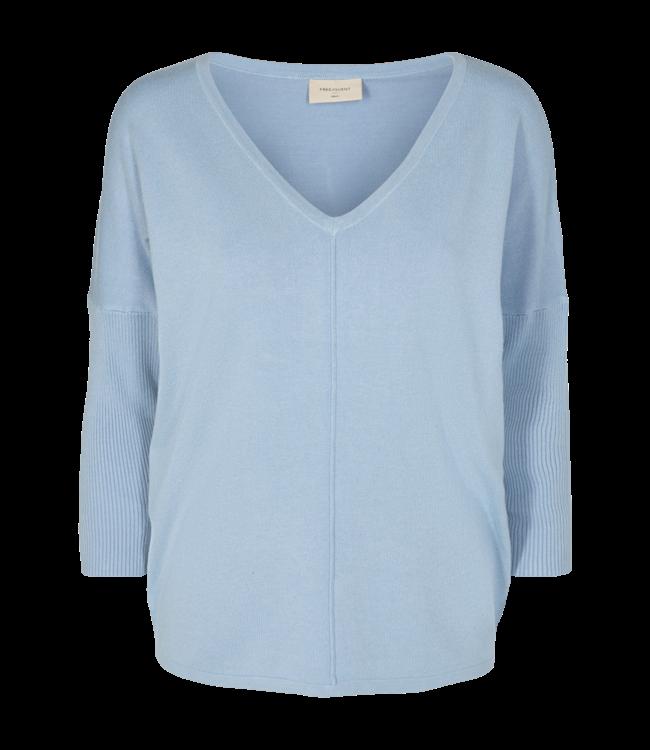 FREEQUENT - Jone v-neck licht blauw