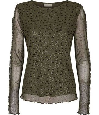 FREEQUENT FREEQUENT - Ferona blouse olive night mix