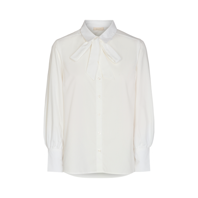 FREEQUENT - Flynn shirt bow offwhite