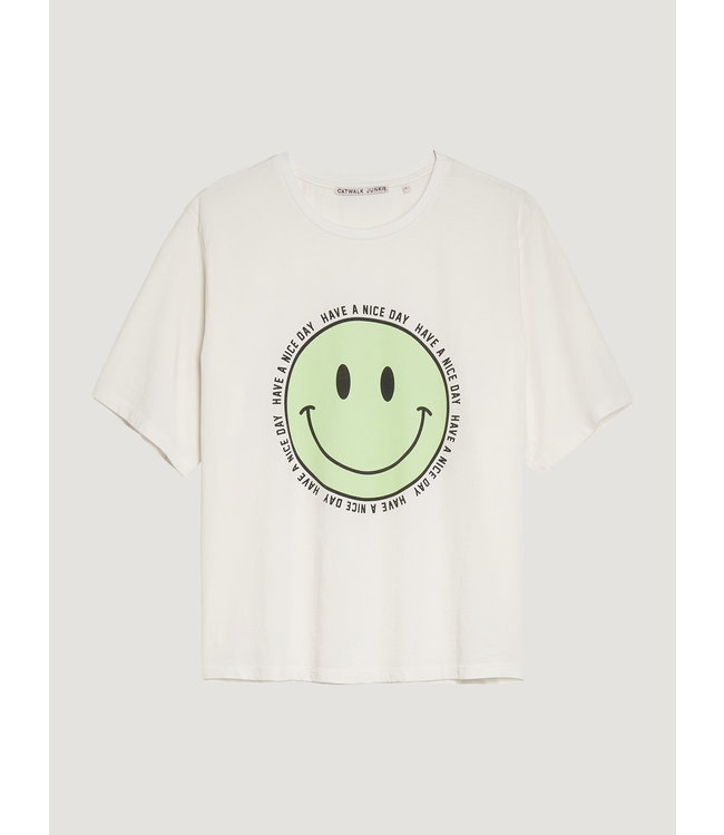 CATWALK JUNKIE - Happy face t-shirt