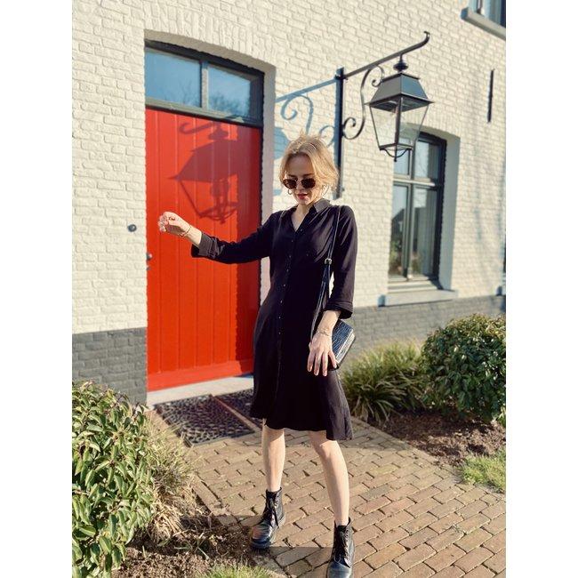 Y.A.S - Yassavanna 3/4 jurk zwart