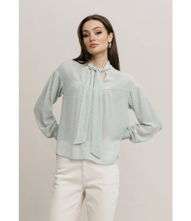 RUT & CIRCLE - Sofi swiss dot blouse
