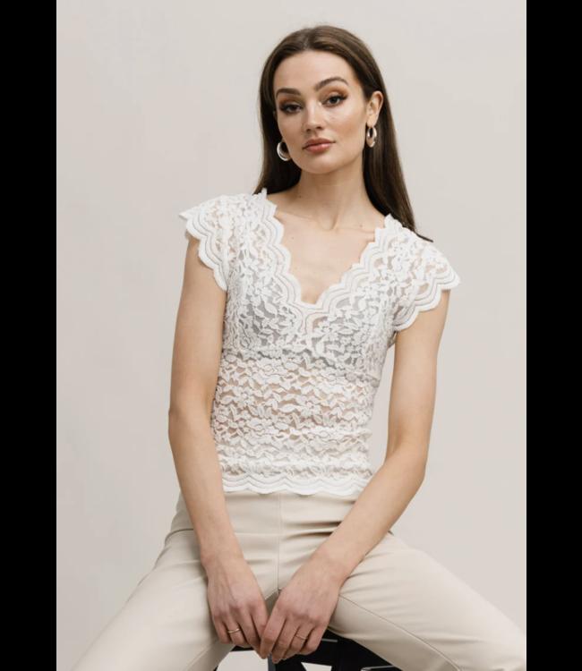 RUT & CIRCLE - Vera lace top