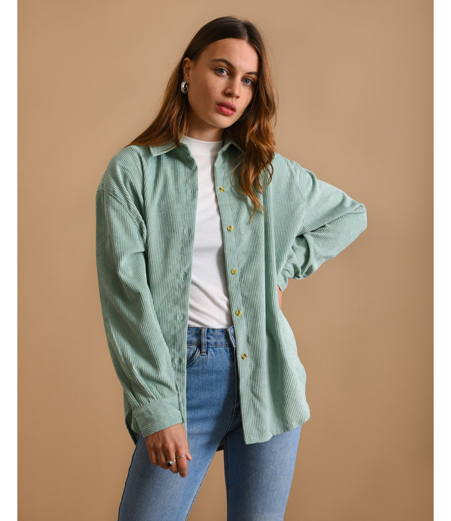 THINGS I LIKE THINGS I LOVE - Corduroy Blouse green