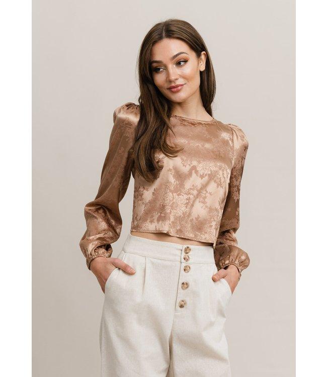 RUTT&CIRCLE - Jonna open back blouse