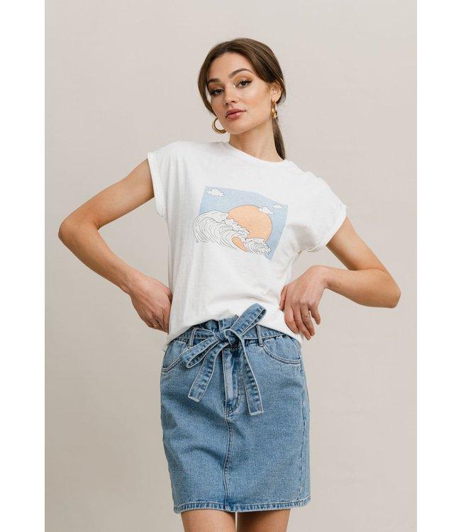 RUT&CIRCLE - Ellen printed t-shirt