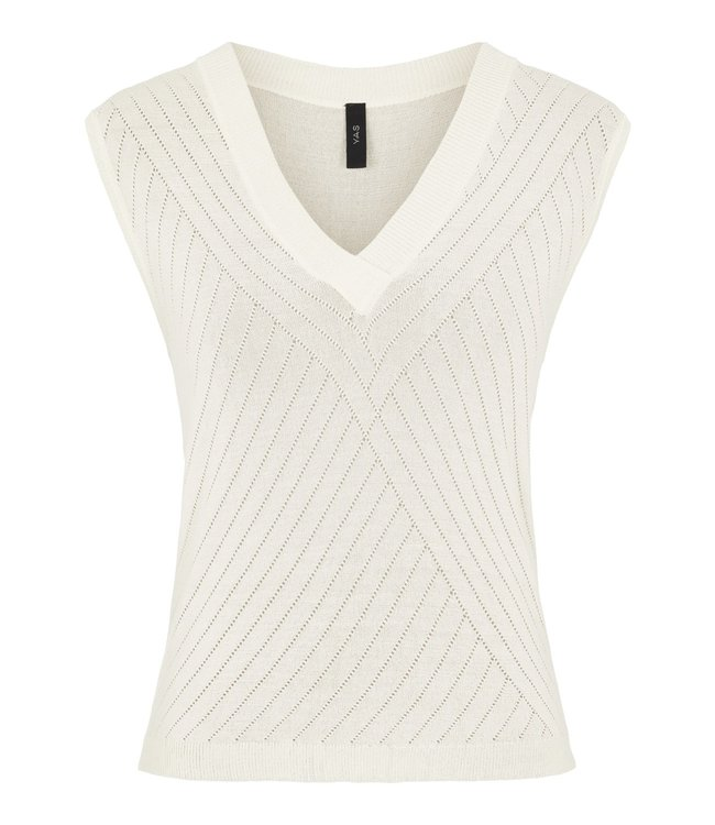 Y.A.S - Yaselso knit top creme