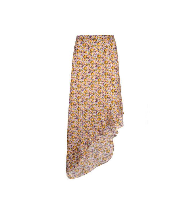 LOFTY MANNER - Lieza pink yellow rokje