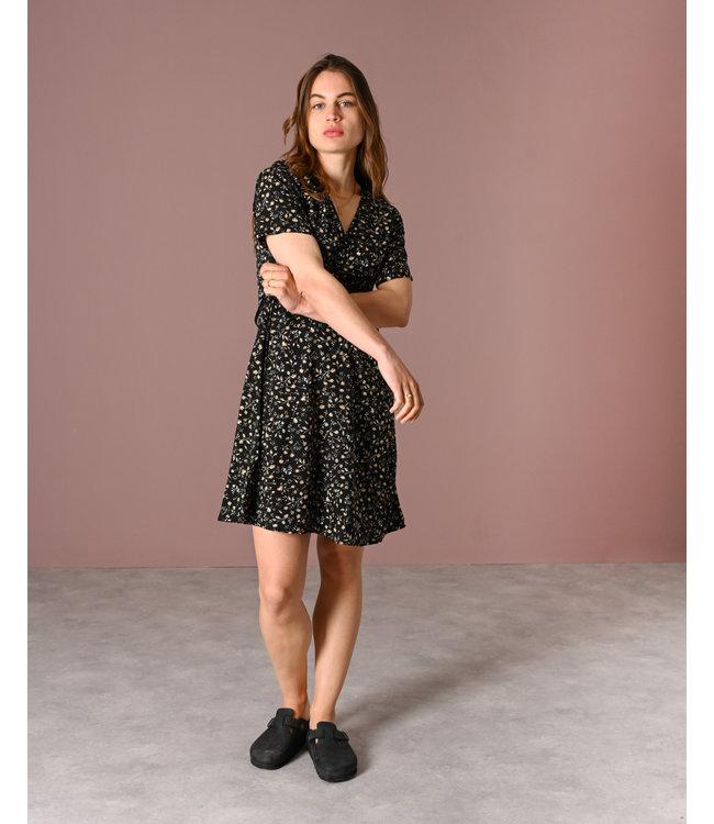 THINGS I LIKE THINGS I LOVE - Fabienne wrap dress black garden
