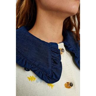 NUMPH NÜMPH - Nucharmy collar dark blue denim